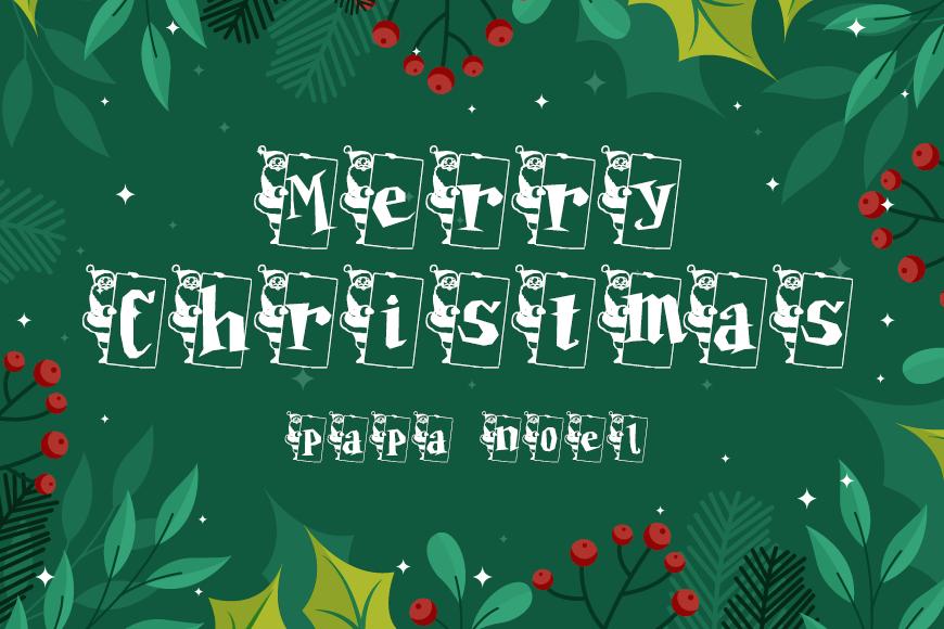 免费圣诞商用英文字体下载